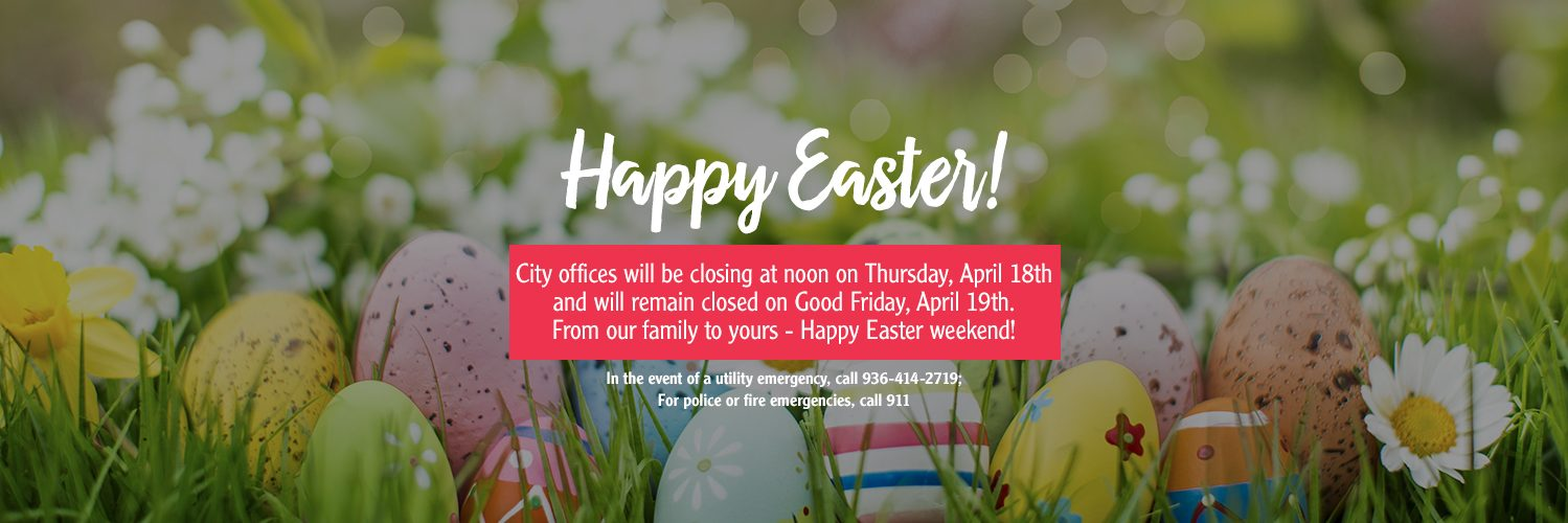 closed Good Friday and Easter slide